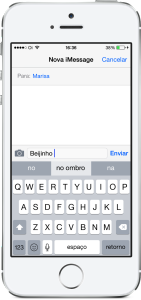 teclado ios 8 QuickType